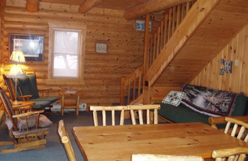 Cabin interior at Timber Trail Lodge & Resort.