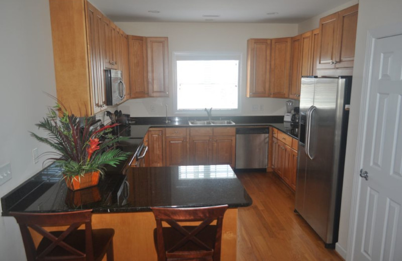 Rental kitchen at Island Real Estate. Inc.