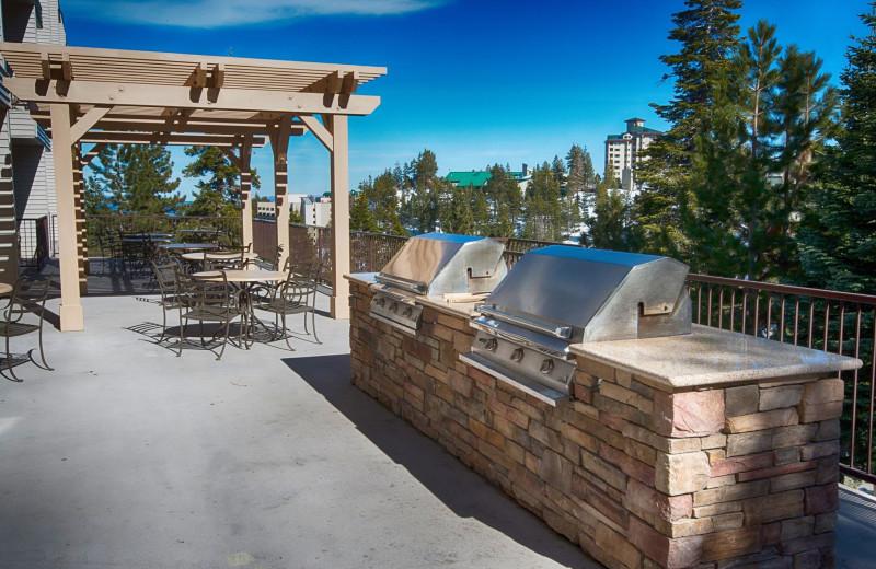 Patio area at The Ridge Resorts.