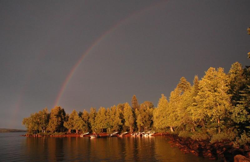 Rainbow over Heston's Lodge.