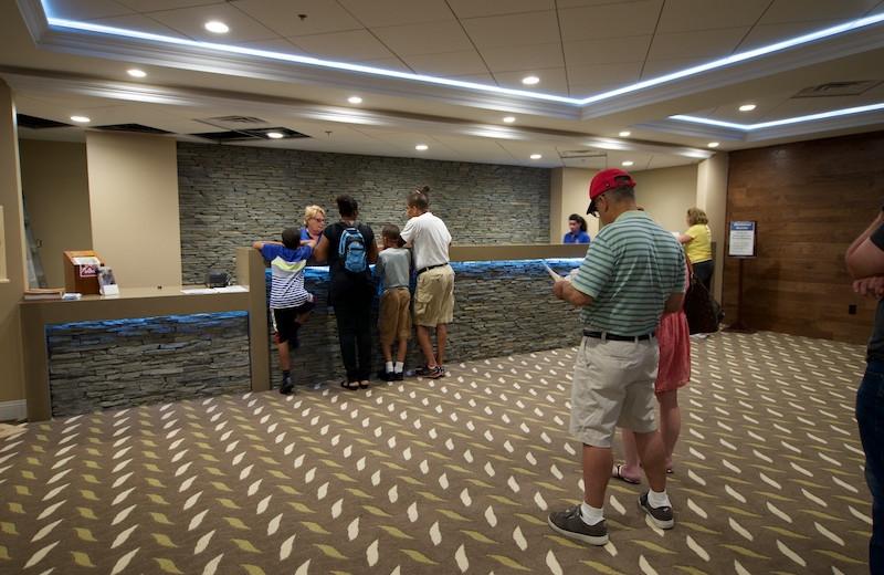 Lobby at Split Rock Resort & Golf Club.