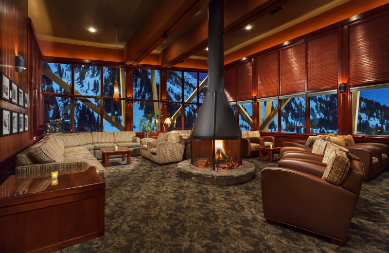 Lounge at Alta's Rustler Lodge.