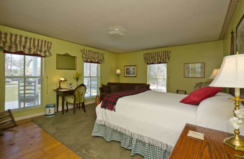 Guest room at The Pack House Inn.