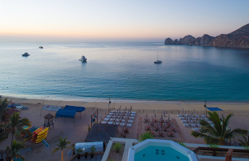 beach view at Cabo Villas Resort.