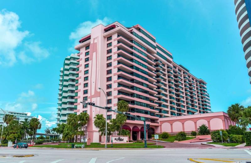 Exterior view of The Alexander All Suite Oceanfront Resort.
