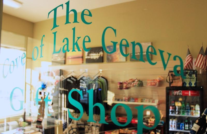 Gift shop at The Cove of Lake Geneva.