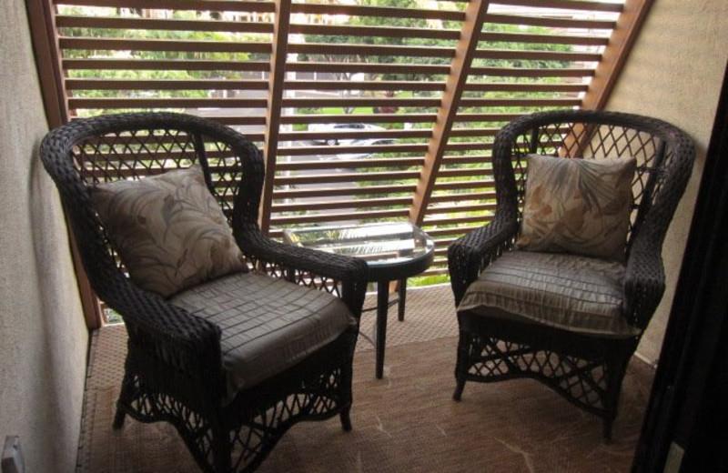 Vacation rental sitting area at Maui Kamaole.