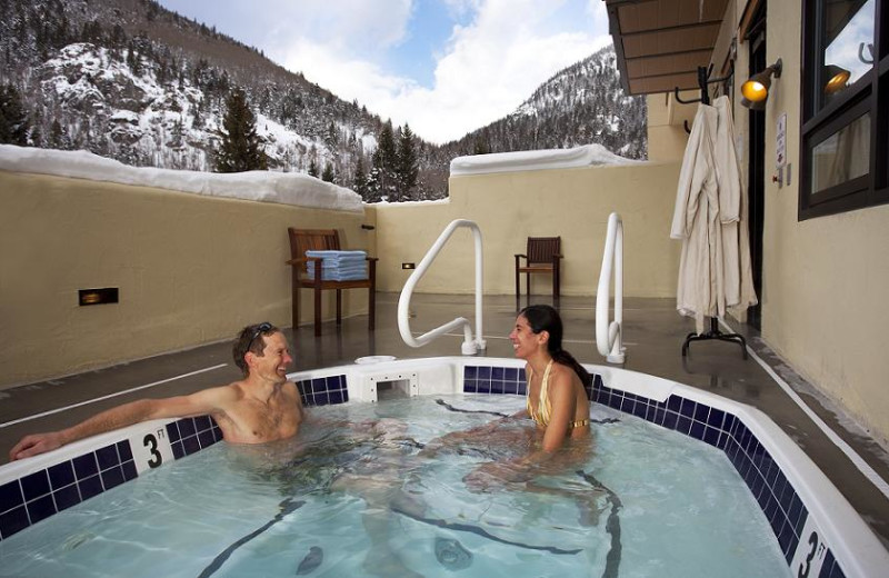 Hot tub at Edelweiss Lodge and Spa.