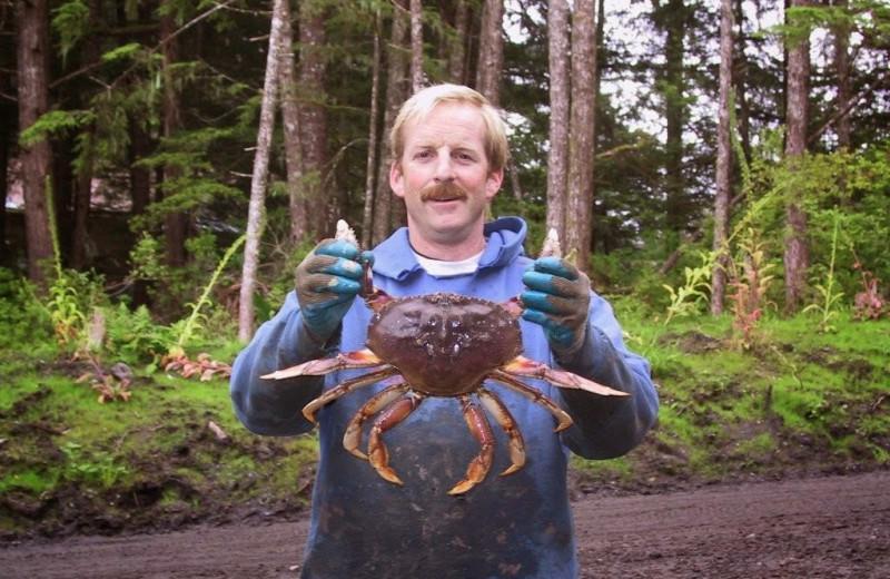 Crab fishing at Island Point Lodge.