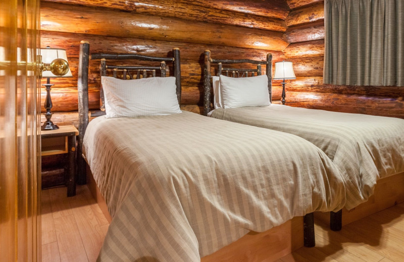 Guest beds at Tigh-Na-Mara Resort.
