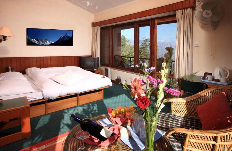 Guest room at Dhulikhel Lodge Resort.
