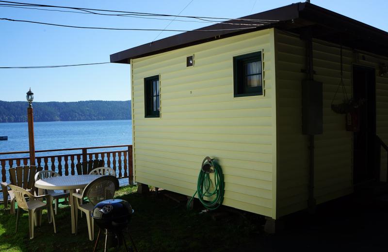 Cabin exterior at Mike's Beach Resort.