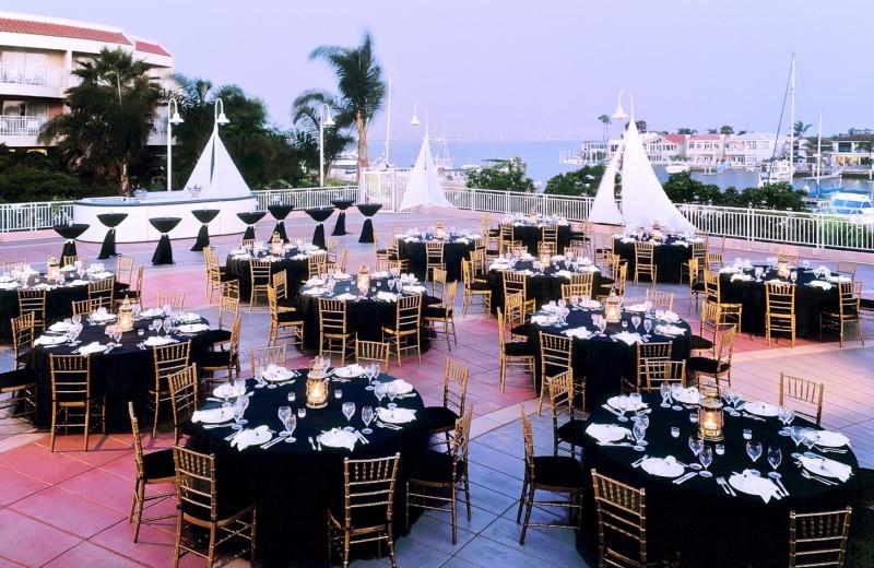 Wedding reception at Loews Coronado Bay Resort.