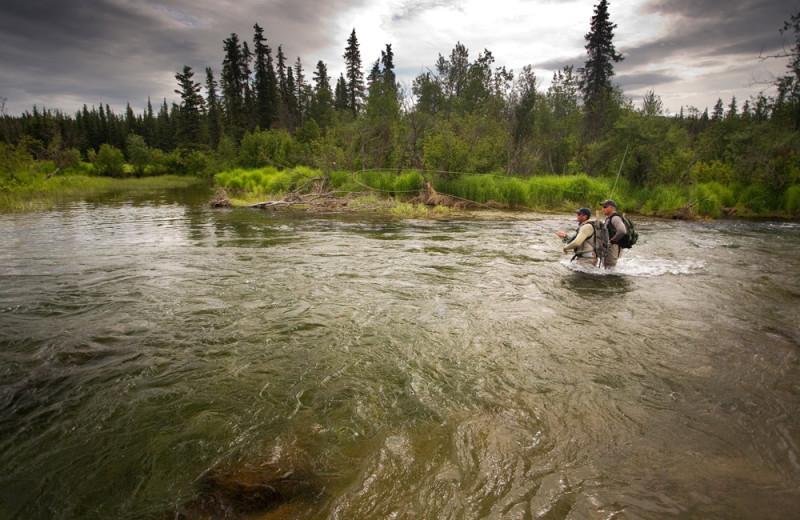 Fishing at Enchanted Lake Lodge.