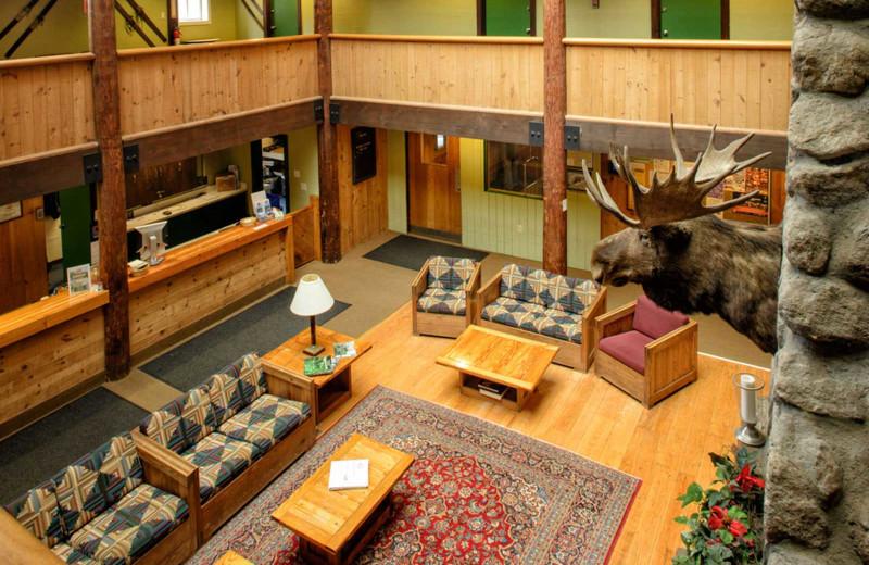 Lobby at Snowy Owl Inn and Resort.