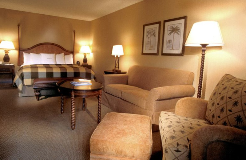 Guest room at Fess Parker's Doubletree Resort.