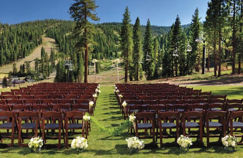 Outdoor wedding at Ritz-Carlton Lake Tahoe.
