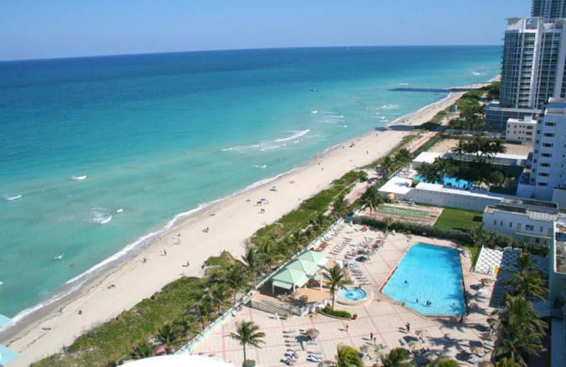 Aerial view of Deauville Beach Resort