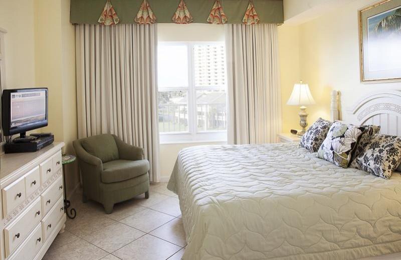 Rental bedroom at Seascape Resort.