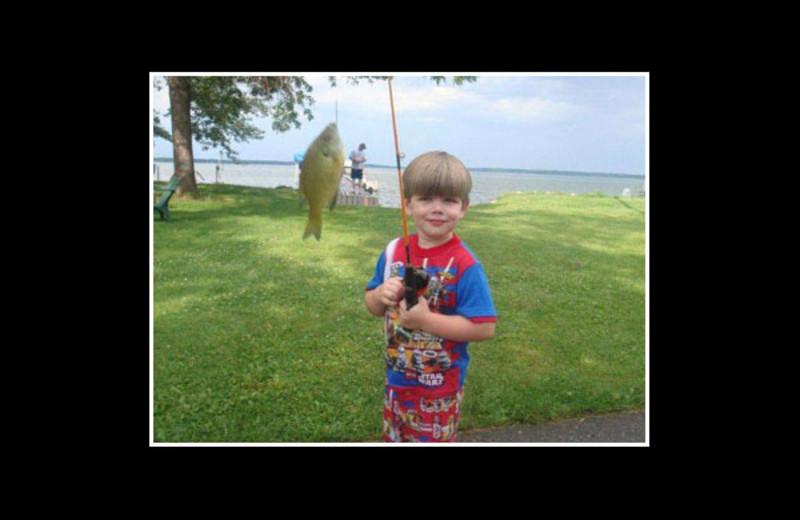 Fishing at Reel Livin' Resort.