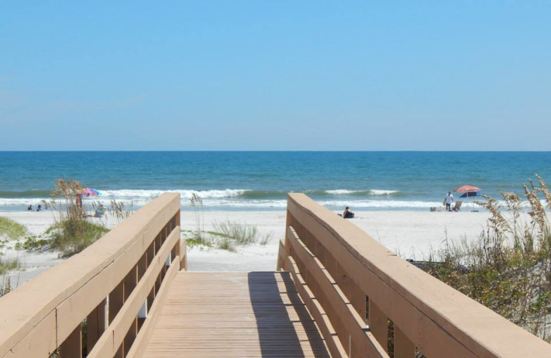 Beach at Family Sun Vacation Rentals.