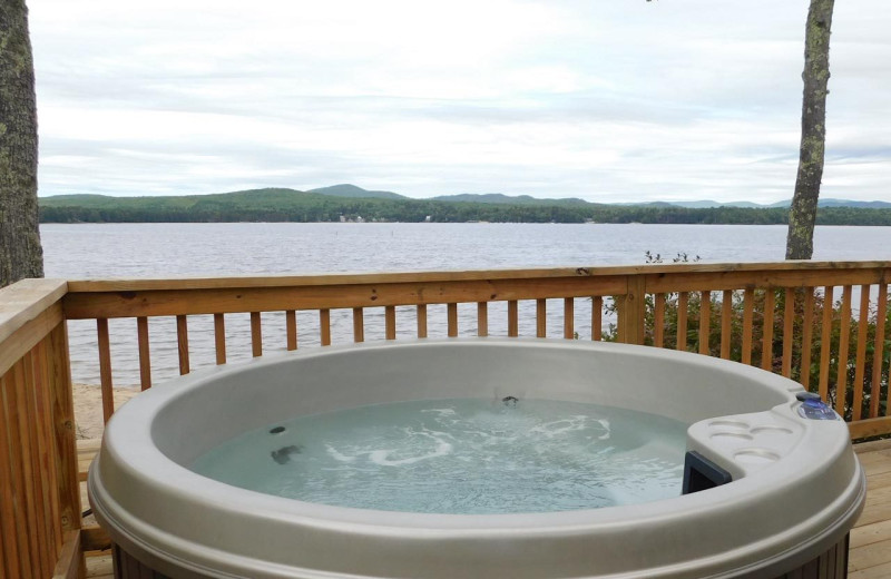 Cottage hot tub at Westward Shores Camping Resort.