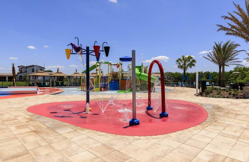 Splash pad at Balmoral Resort.
