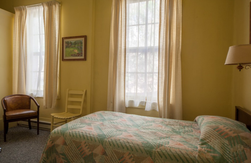 Guest room at Capon Springs & Farms.