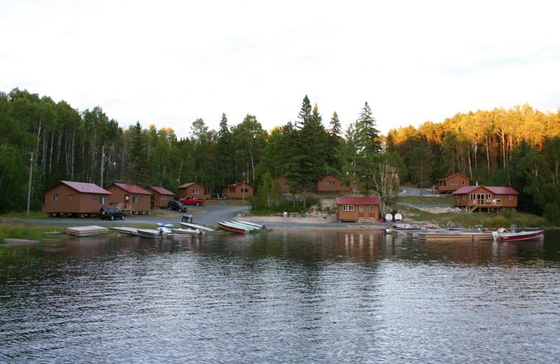 Resort exterior at Cliff Lake Resorts.