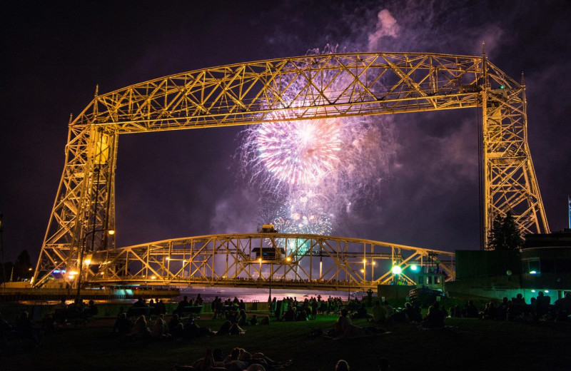 Fireworks at South Pier Inn.