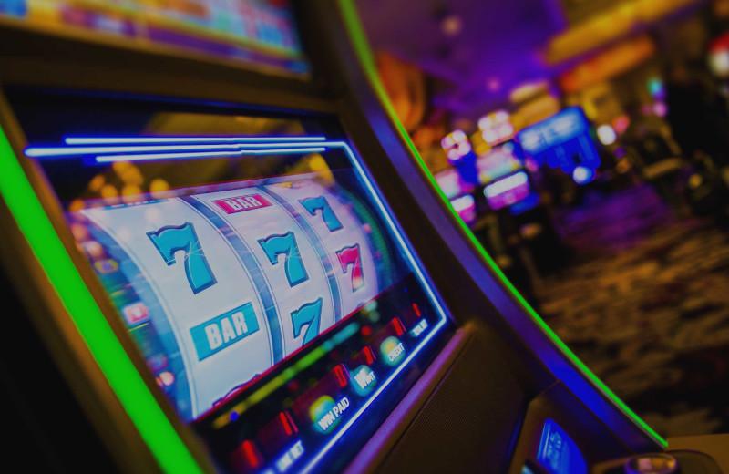 Slot machine at Del Lago Resort