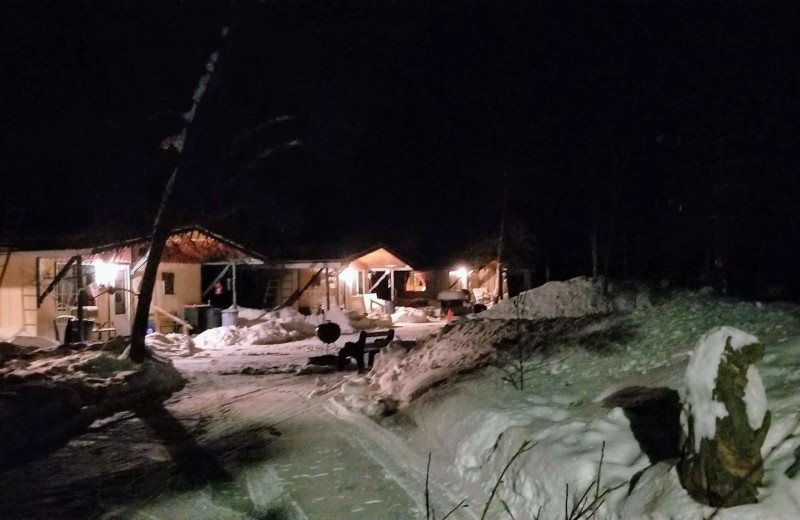 Winter cabin at Pine Beach Resort-Side Lake.