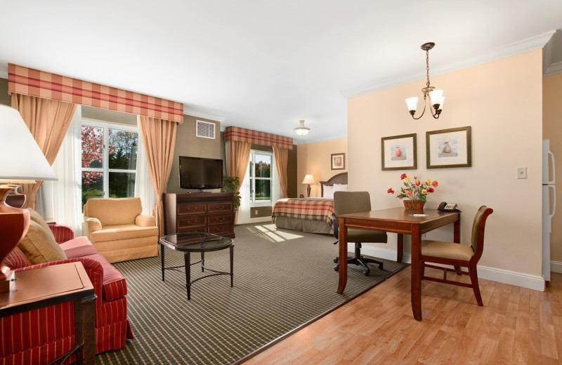 Guest room at Homewood Suites by Hilton Melville, NY.