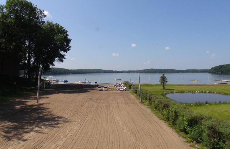 Boat launch at Kavanaugh's Sylvan Lake Resort.