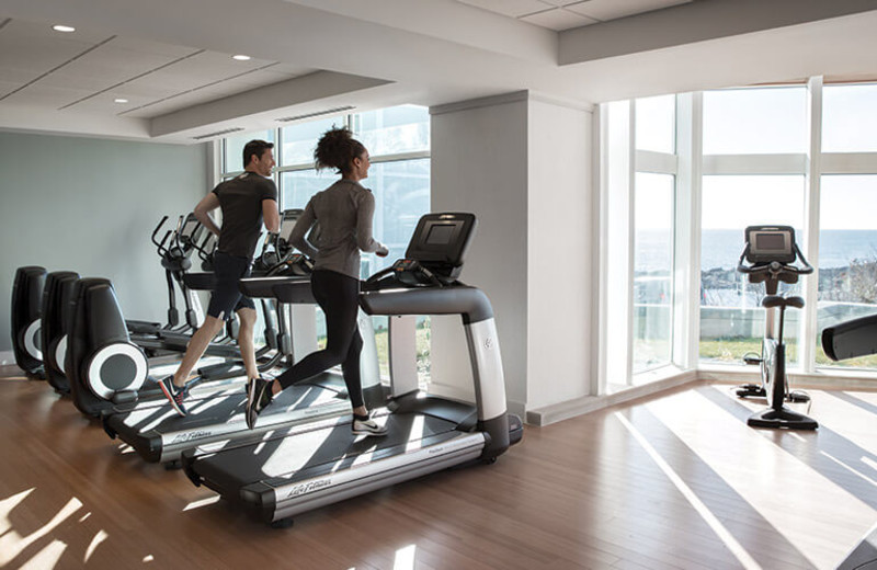 Fitness room at Cliff House Maine.