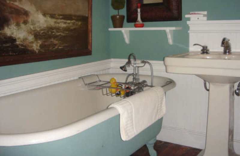 Guest bathroom at Porches Bed & Breakfast.