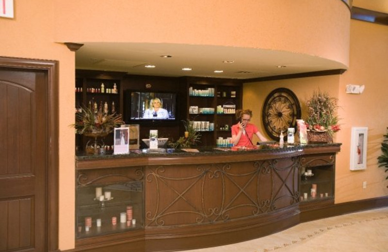 Front desk at RiverStone Resort.