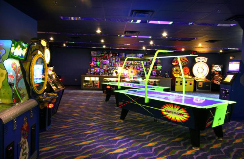 Video arcade at Holiday Inn Club Vacations at Orange Lake Resort.