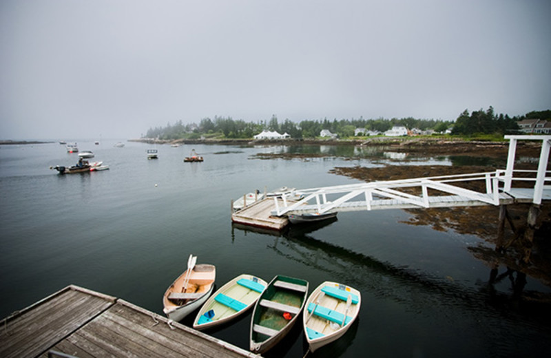 Boats at Newagen Seaside Inn.