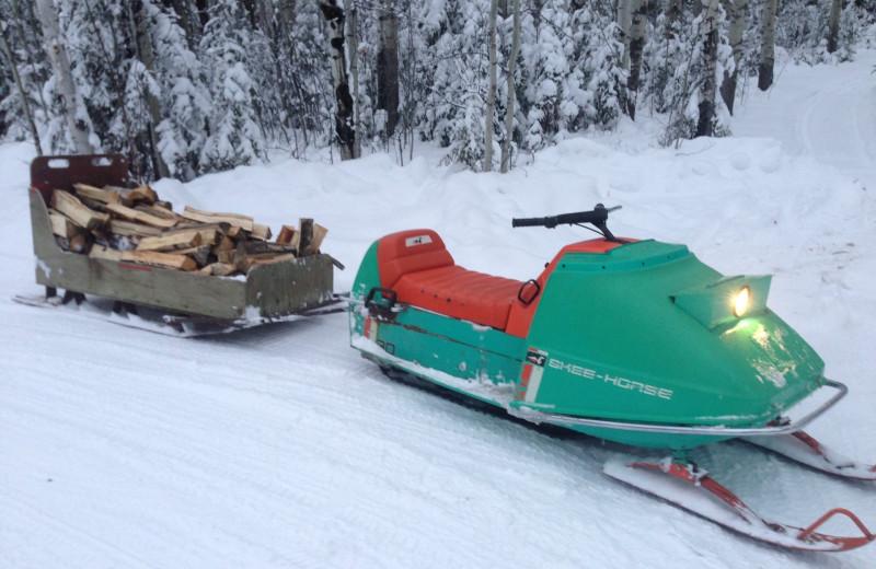 Snowmobiling at Bakers Narrows Lodge.