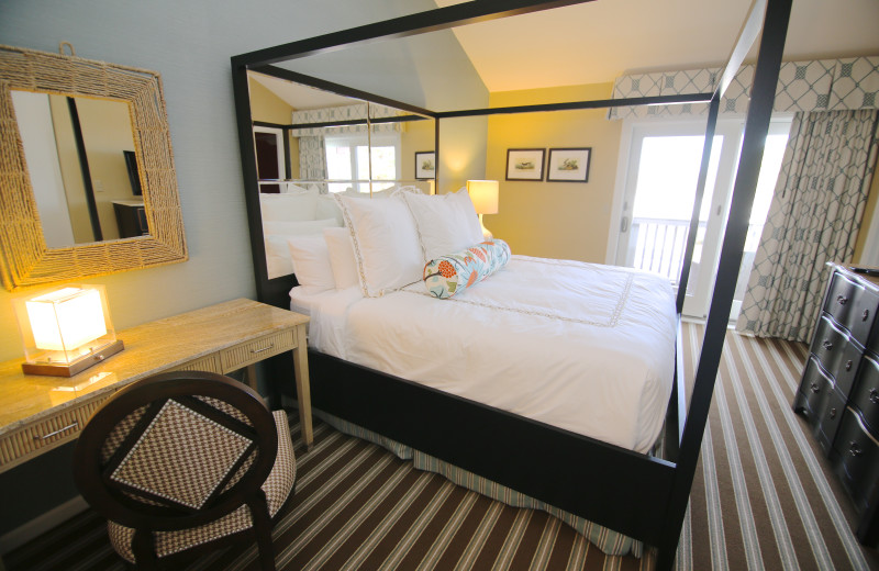 Guest bedroom at Ocean Edge Resort & Club on Cape Cod.