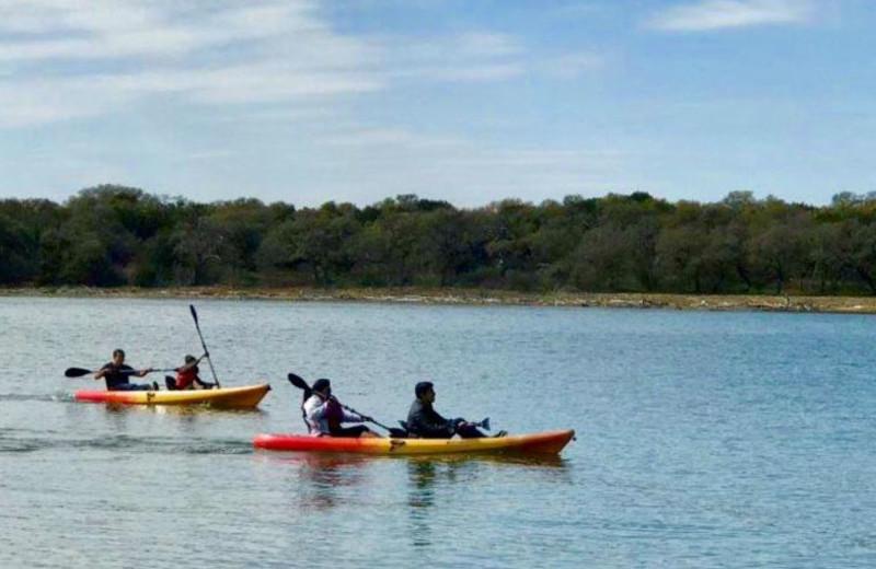 Kayaking at Canyon of the Eagles.