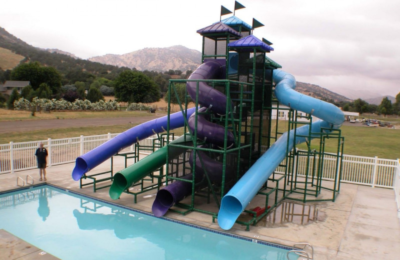 Water slides at Wonder Valley Ranch Resort.