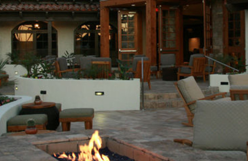 Fire Pit Patio at Rancho Las Palmas Resort