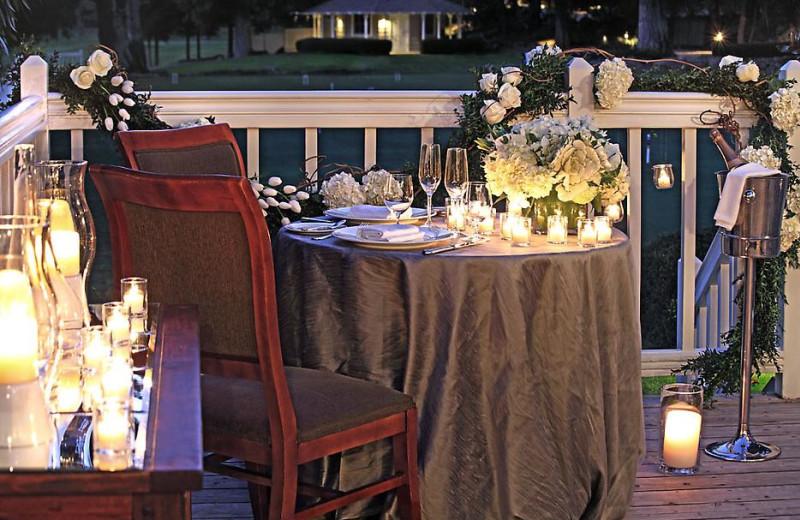 Romantic dining at Meadowood Napa Valley.