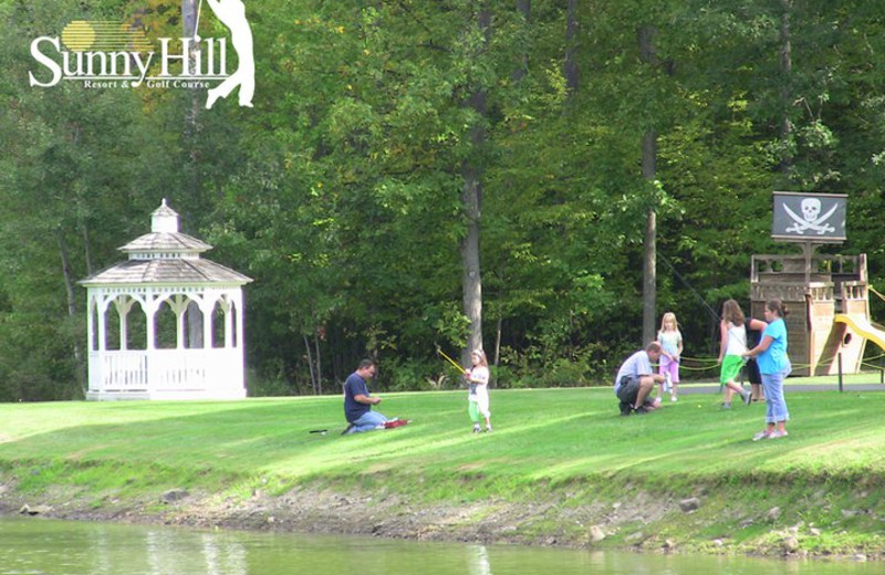 Fishing at Sunny Hill Resort & Golf Course.