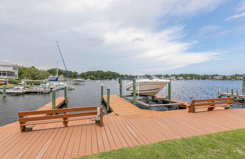 Rental dock at Joe Lamb Jr. & Associates Vacation Rentals.