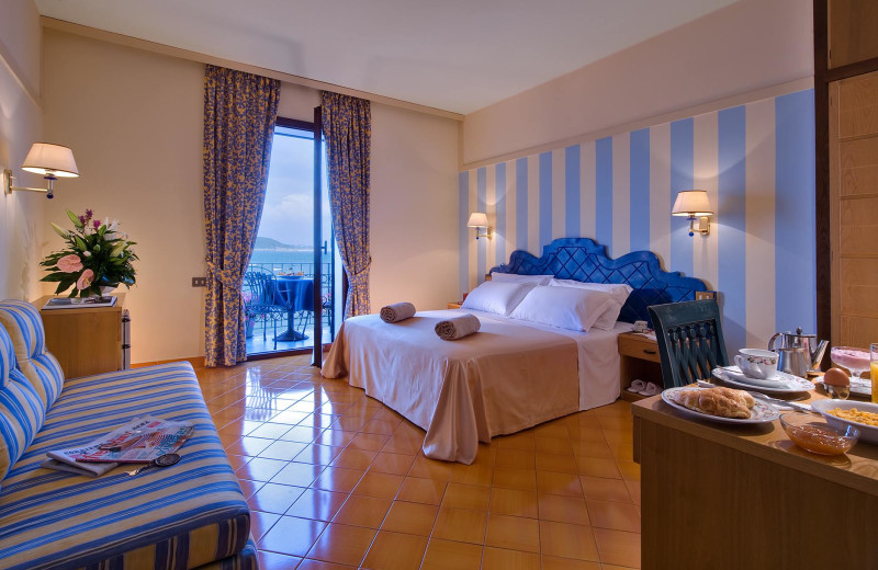 Guest room at Hotel Mare Blu Terme.