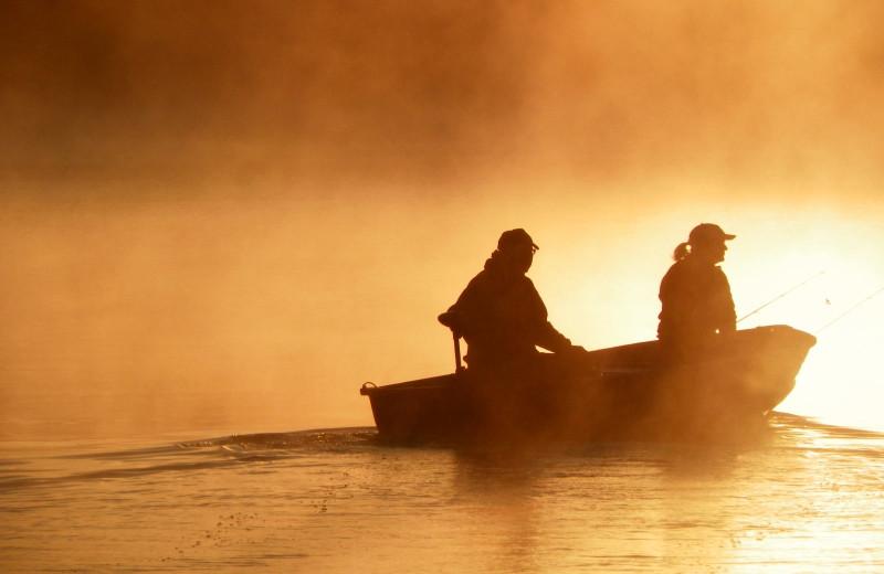 Fishing at Five Lakes Resort.