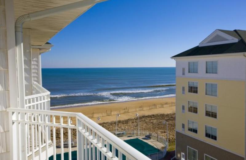Balcony ocean view at Hilton Garden Inn Outer Banks.